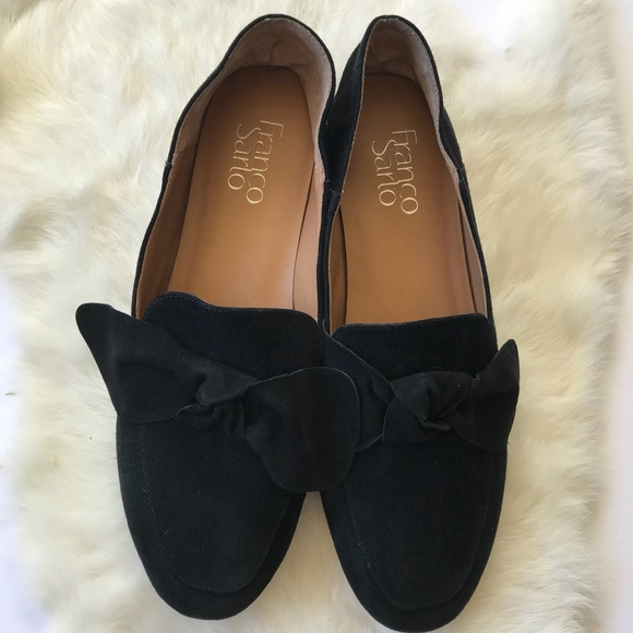 6899d243985 Franco Sarto Shoes - Franco Sarto Abyss Black Bow Loafers Suede 8